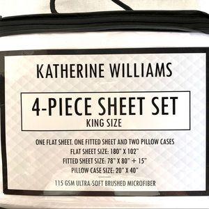 KATHERINE WILLIAMS SHEET SET KING SIZE